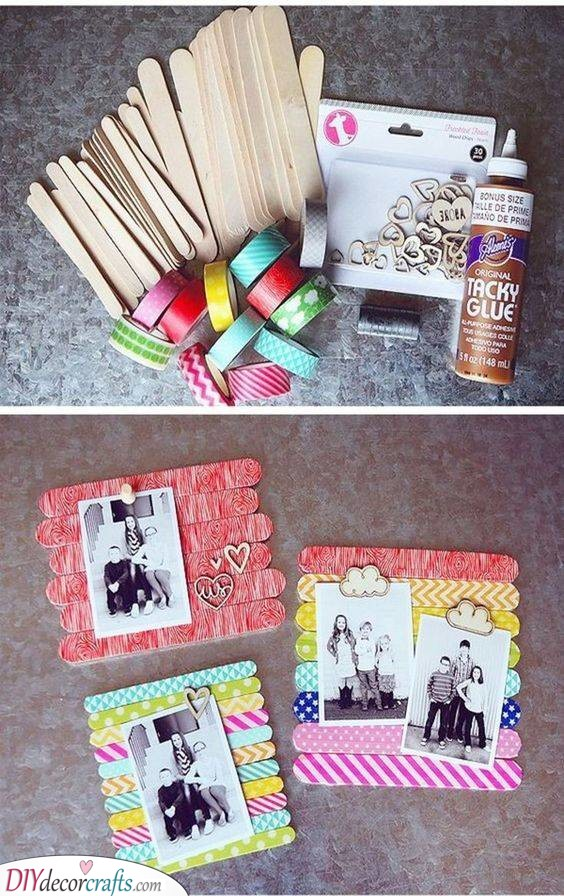 Paddle Pop Stick Crafts - Handmade Gift Ideas for Mom