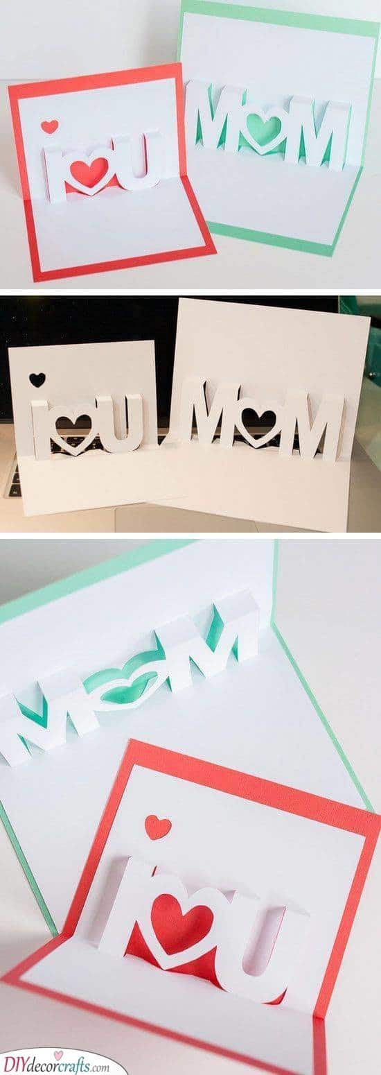 Crafting a Card - Birthday Gifts for Mom