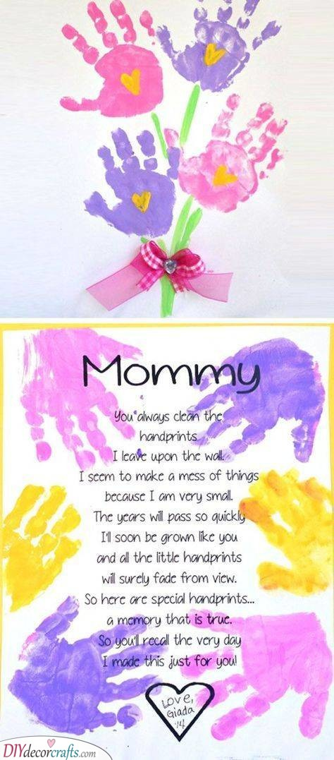 Flower Handprints - Cute Ideas for Your Mother
