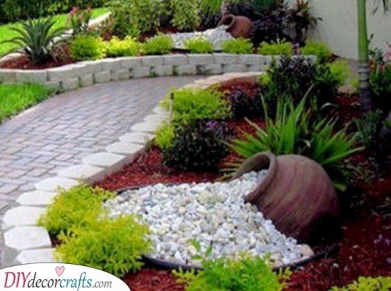 A Cascade of Pebbles - Beautiful Garden Decor