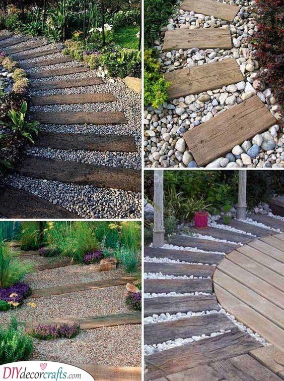 A Boardwalk Vibe - Cheap Landscaping Ideas