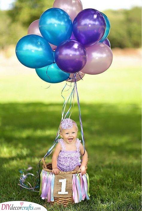 A Hot Air Balloon - Baby's First Birthday Ideas