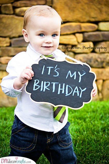 Blackboard Ideas -Baby's First Birthday Ideas