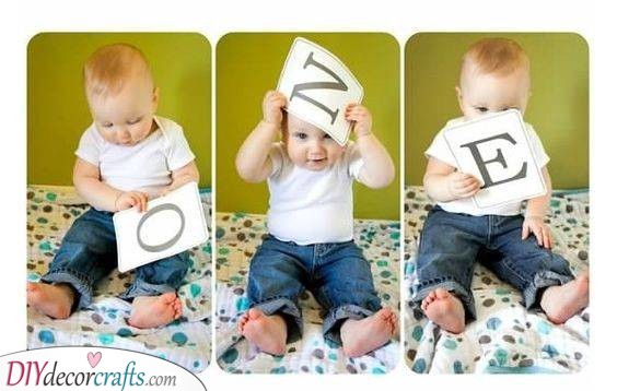 A Cute Photo Series - Great Baby's First Birthday Ideas