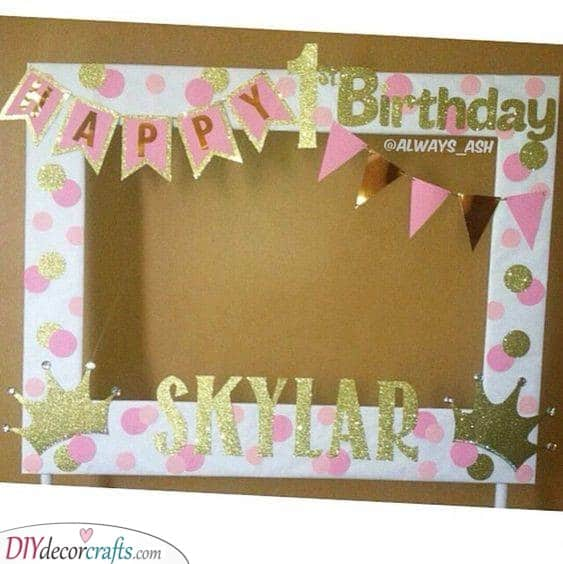 Cute Photo Booth Frame - Personalised 1st Birthday Gifts