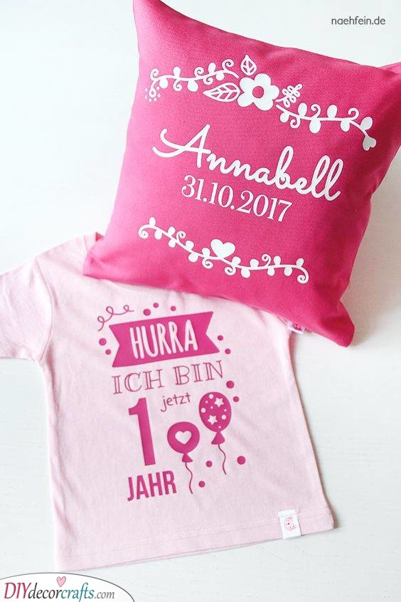 A Pillow and a Shirt - Baby's First Birthday Ideas