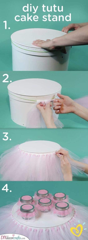 DIY Cake Stand - Baby's First Birthday Ideas