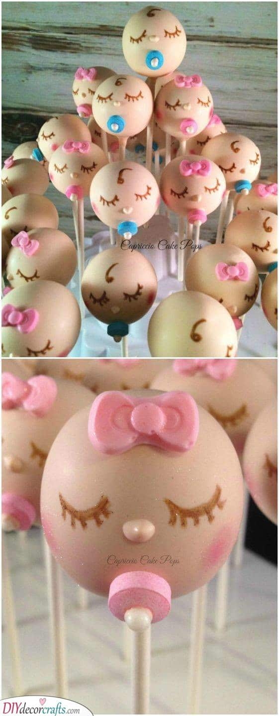 Baby Cake Pops - Cute Ideas for Party Food