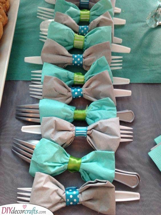 Organize the Cutlery - Baby Shower Food Ideas