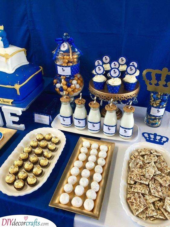 Blue and Gold - Royal Baby Shower