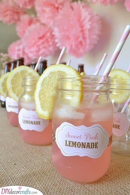 Sweet Pink Lemonade - Baby Shower Drinks