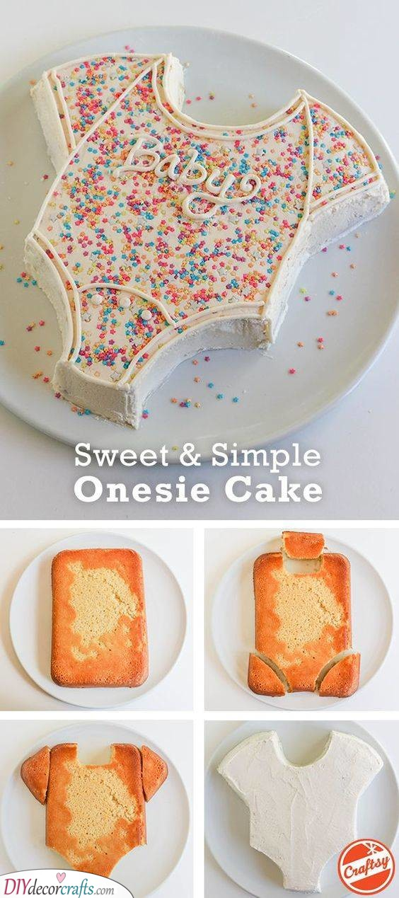 Adorable and Simple - Onesie Cake