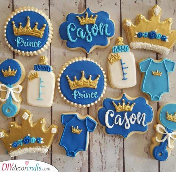 An Array of Biscuits - Perfect for a Gender Reveal Party