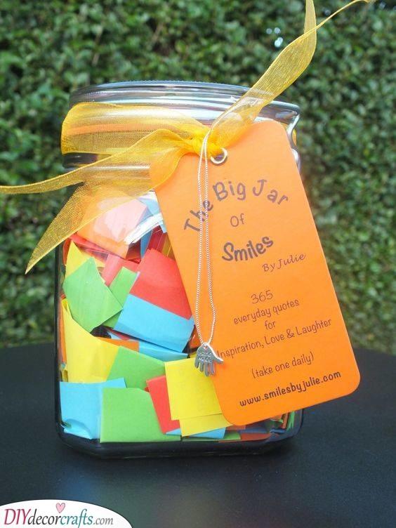 A Jar of Smiles - 18th Birthday Ideas