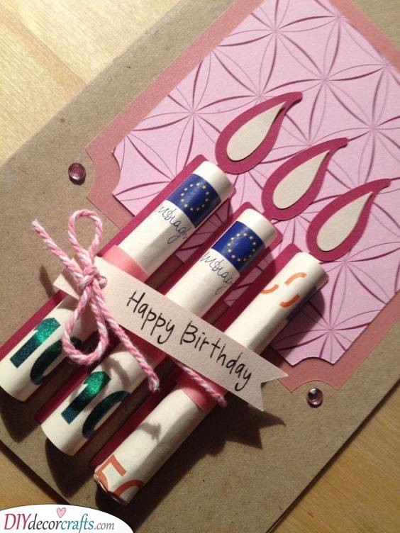 Money or Candles - 18th Birthday Ideas