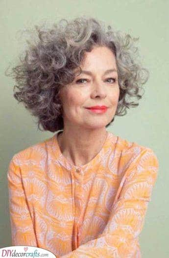 Curly and Beautiful - Hairstyles for Women Over 50