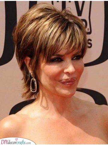 A Shaggy Cut - Short Haircuts for Older Women