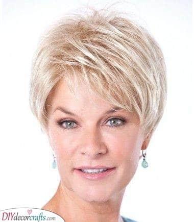 Platinum Blonde - Short Hairstyles for Older Women