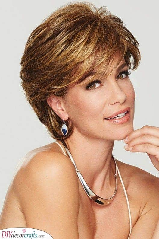 A Glamorous Look - Short Haircuts for Women Over 50