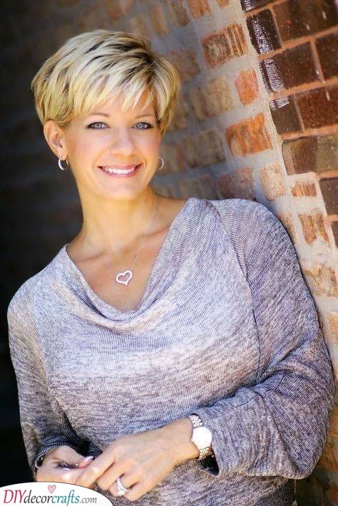A Long Pixie - Short Haircuts for Older Women