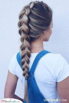An Inverted Braid - Beautiful Hairstyles for Summer