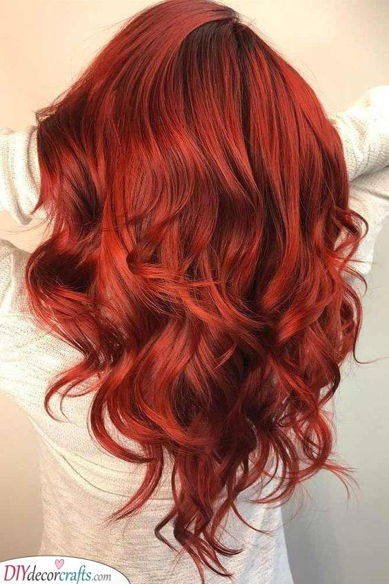 A Deep Red - Sensual Hairstyles for the Season