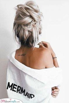 A Messy Bun - Perfect for Lazy Days
