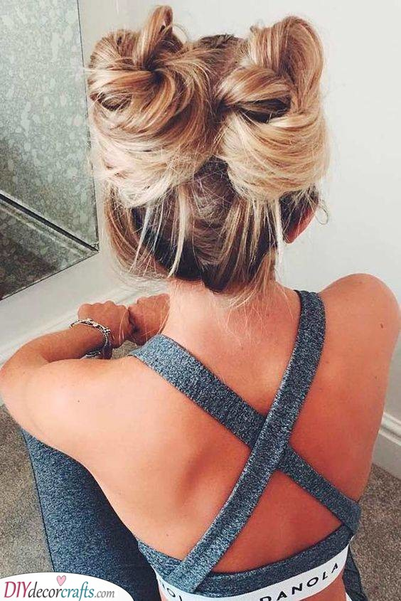 Two Top Buns - Cute Summer Hairstyles