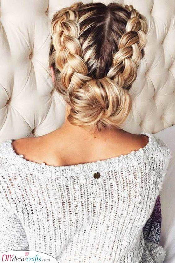 Braids into a Bun - Elegant Hairstyles for Summer