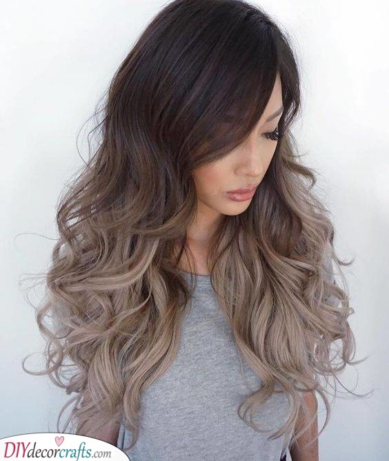 Ombre Waves - Shades of Brown