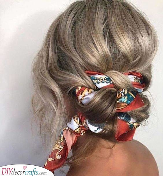 Incorporate a Headscarf - Cute Summer Hairstyles