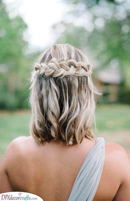 Waterfall Braid - Summer Hairstyles for Short Hair