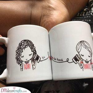 Matching Mugs - Birthday Present Ideas for Best Friend