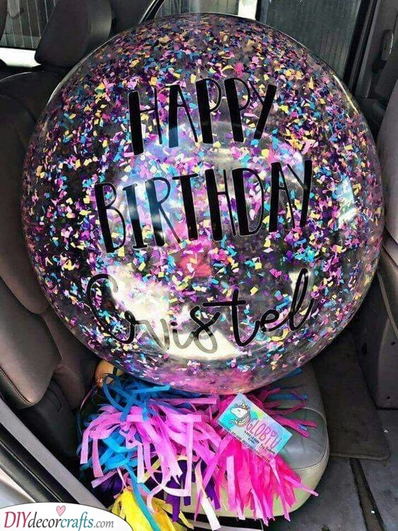 A Fun Balloon - Gifts to Give Your Best Friend for Her Birthday