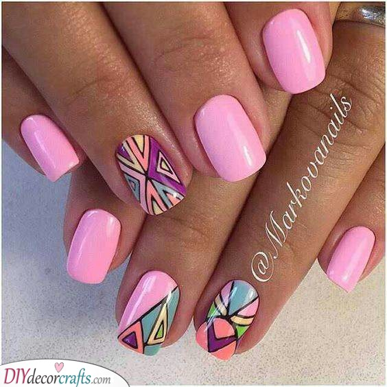 Purple and Pink - Gorgeous Nails for Summer