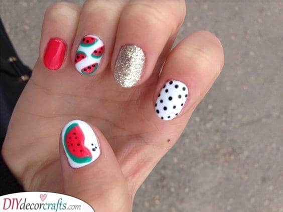 Melon Seeds - Adorable Nails for Summer