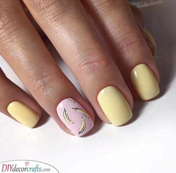 Crazy About Bananas - Funky Summer Nail Ideas