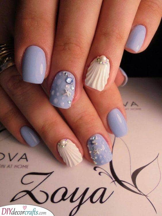 Under the Sea - Acrylic Nail Designs for Summer
