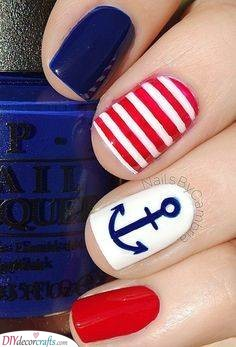 Red and Blue - Nautical and Stylish