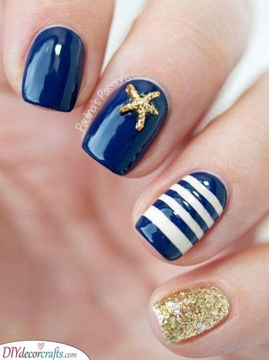 Nautical Inspired - Starfish and Stripes
