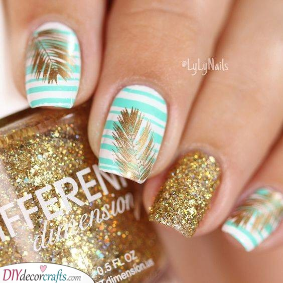 Gold and Tropical - Glitters and Sparkles