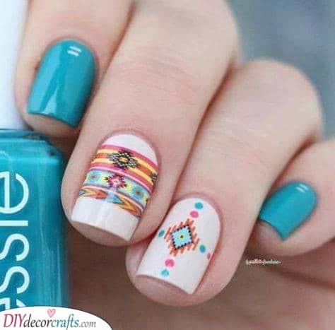A Tribal Look - Summer Nail Designs