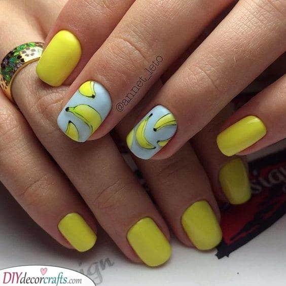 Yellow and Happy - Bubbly Bananas