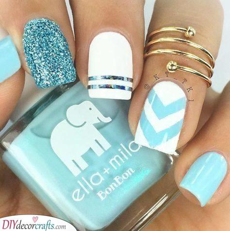 Shades of Blue - Beautiful Nail Ideas