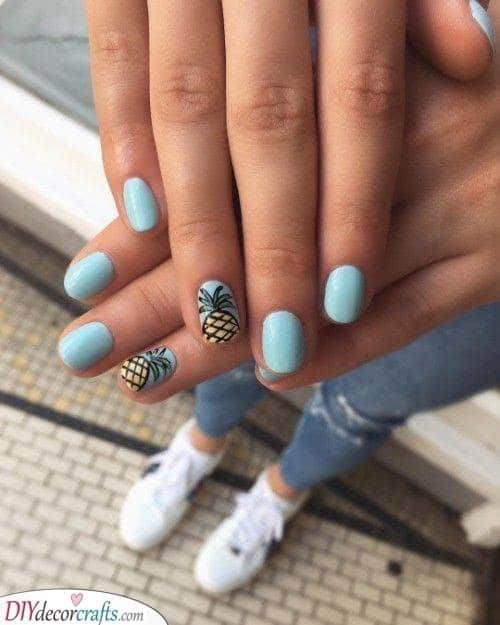 Perfect Pineapples - Summer Nail Art