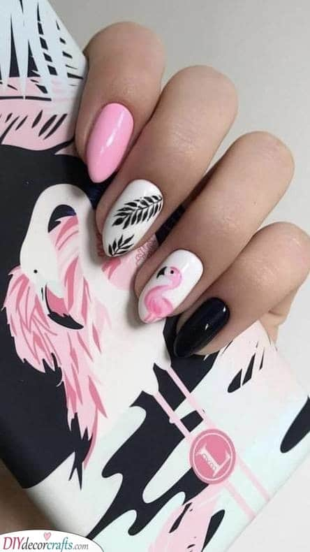 Pretty in Pink - Acrylic Nail Designs for Summer