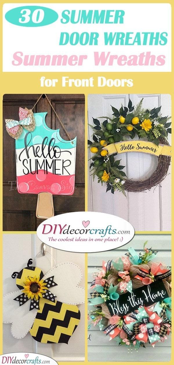 30 SPLENDID SUMMER DOOR WREATHS - Summer Wreaths for Front Doors