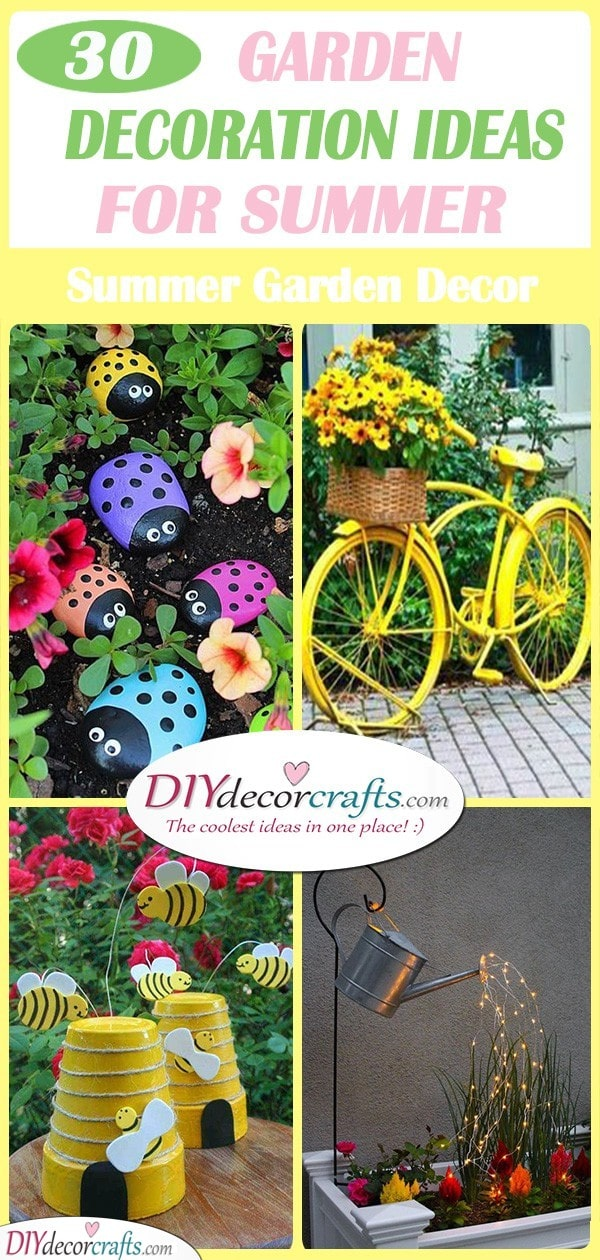 30 GARDEN DECORATION IDEAS FOR SUMMER - Awesome Summer Garden Decor