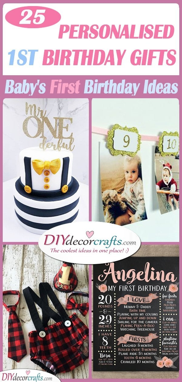 25 PERSONALISED 1ST BIRTHDAY GIFTS - A Baby's First Birthday Ideas