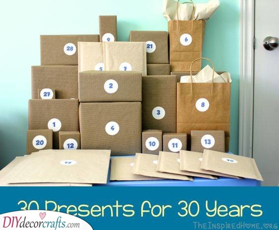 Thirty Amazing Presents - Gift Ideas for 30th Birthday